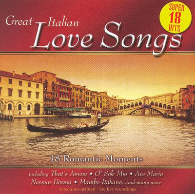 GOODIES: Music CD 'Great Italian Love Songs'