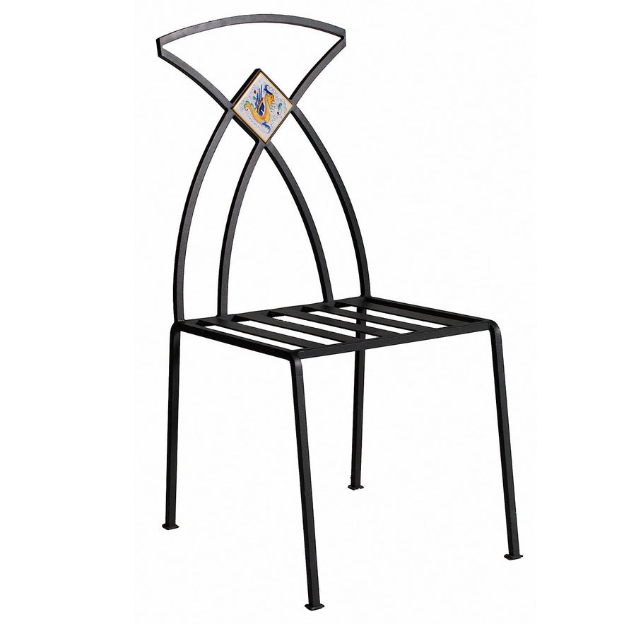 WROUGHT IRON CHAIR: Giunone Design