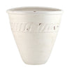 SCAVO BIANCO: Oblong wall planter with flat rear (Medium)