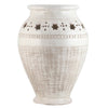SCAVO STELLA BIANCO: Large Vase Umbrella Stand textured and carved star design