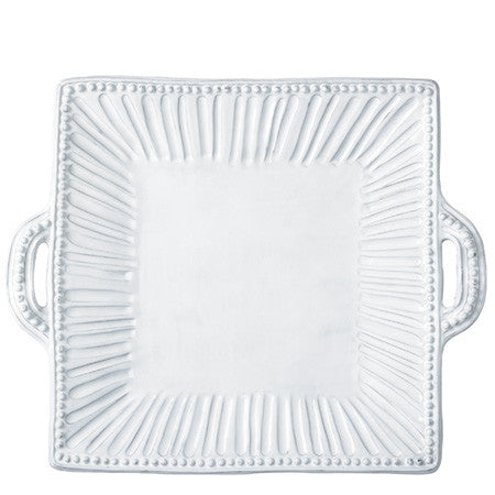 VIETRI: Incanto Stripe Sq Handled Platter