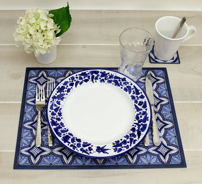 ITALIAN DREAM: Placemats + Coasters (Set of 4 ea) - Design CALTAGIRONE/A