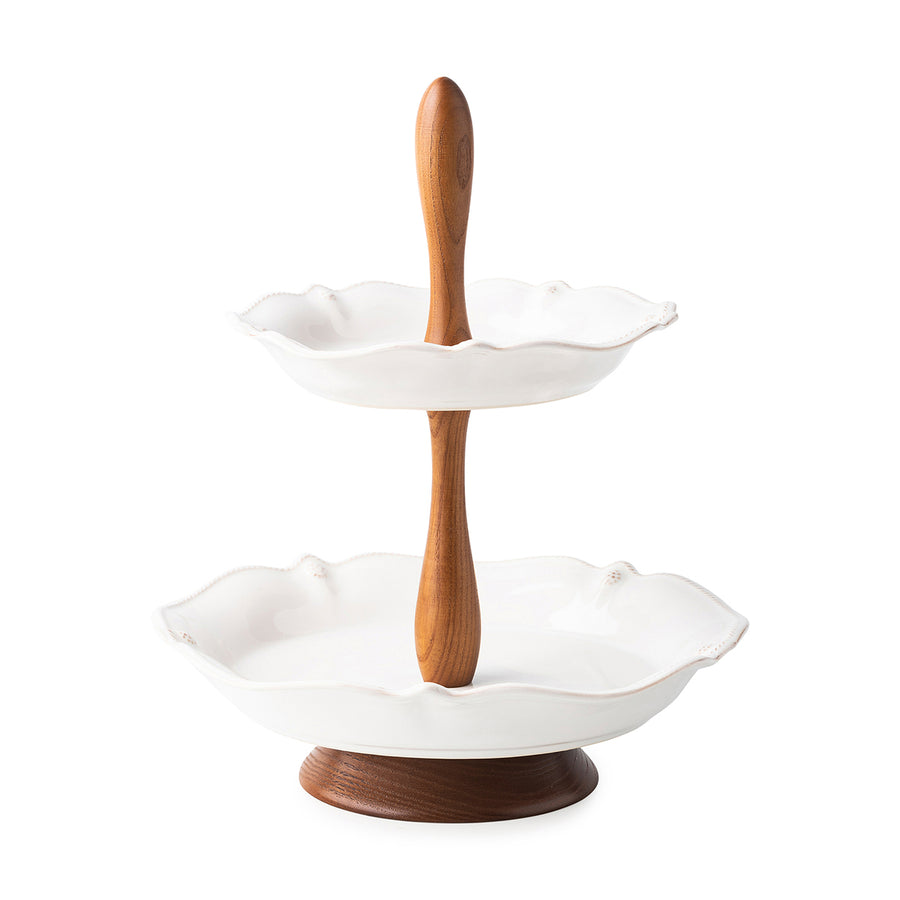 JULISKA: Berry & Thread Whitewash Tiered Serving Stand