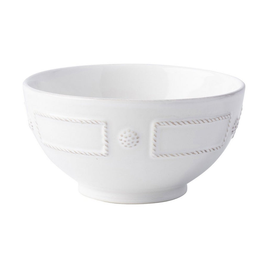 JULISKA: Berry & Thread French Panel Whitewash Cereal/Ice Cream Bowl