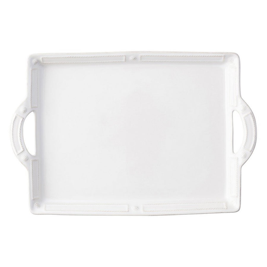 JULISKA: Berry & Thread French Panel Whitewash Handled Tray/Platter