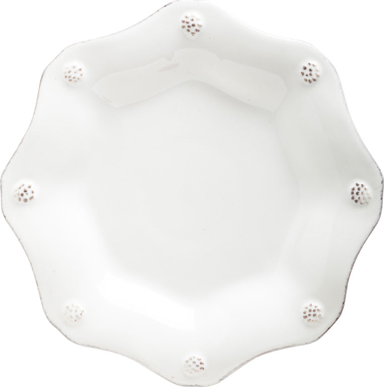 JULISKA: Berry & Thread Whitewash Scallop Tea Plate