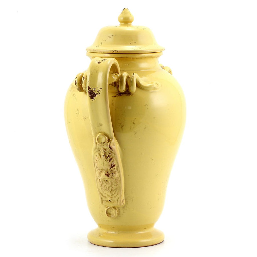 SCAVO DORI: Antique Yellow Canister Large with two handles