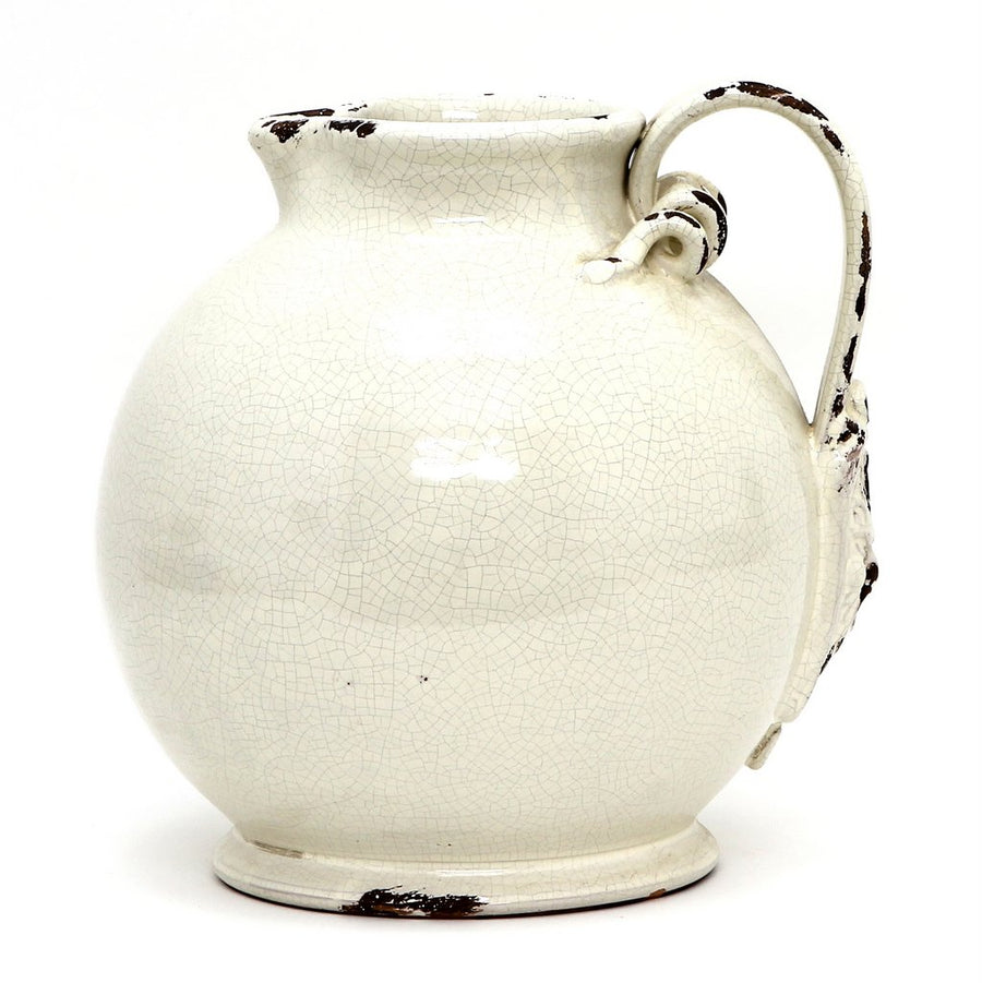SCAVO DORI: Antique White Large Pitcher
