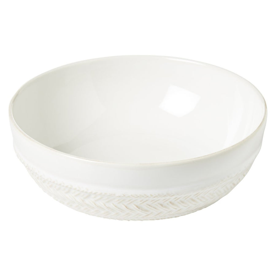 JULISKA: Le Panier Whitewash Coupe Pasta/Soup Bowl