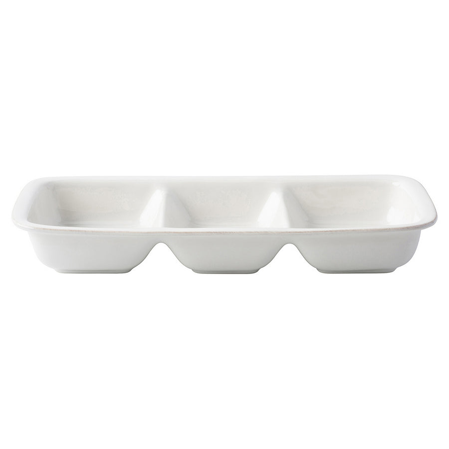 JULISKA: Puro Whitewash Divided Serving Dish