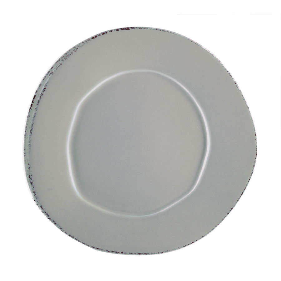 VIETRI: Lastra Gray European Dinner Plate