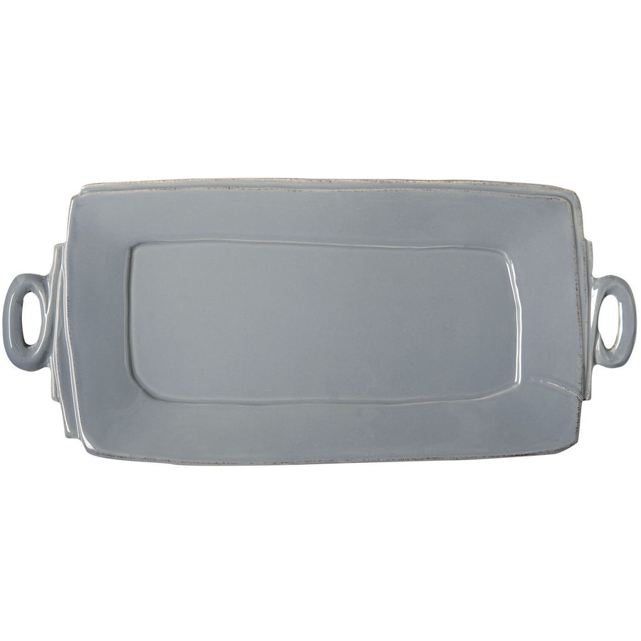 VIETRI: Lastra Gray Handled Rectangular Platter
