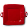 VIETRI: Lastra Red Handled Square Platter