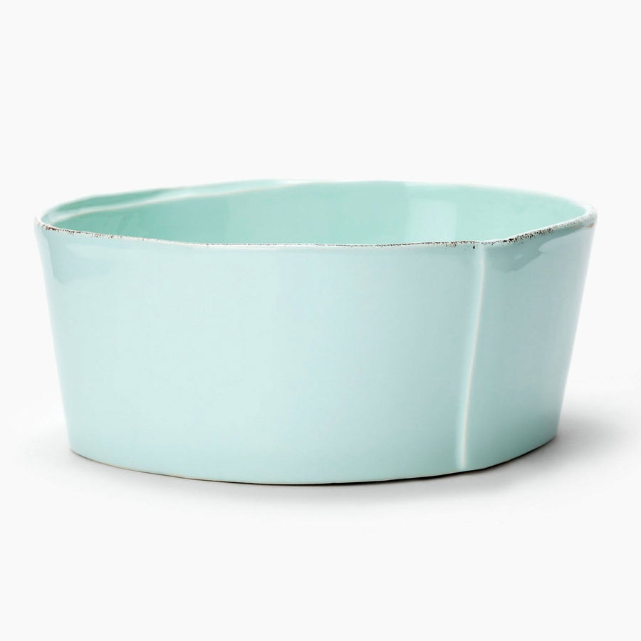 VIETRI: Lastra Aqua Medium Serving Bowl