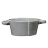 VIETRI: Lastra Gray Small Handled Bowl