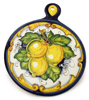 TOSCANA: Old Fashion Round Trivet Dec Limone Barocco