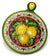 TOSCANA: Old Fashion Round Trivet Dec Limone Rosso