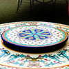 "LAZY SUSAN: Ceramic-Stone Rotating Lazy Susan 20"" Diam."