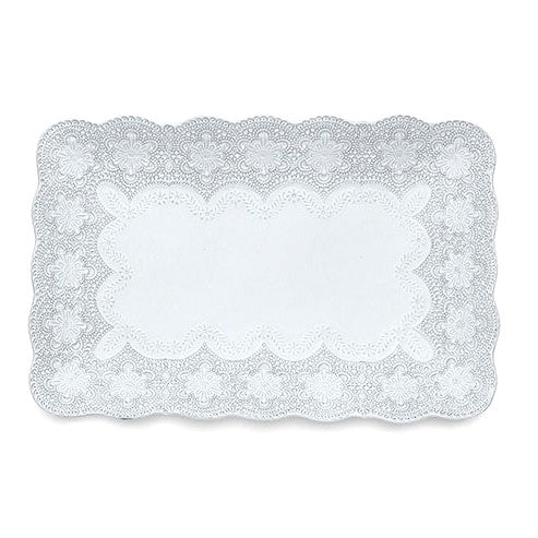 ARTE ITALICA: Merletto White Rectangular Tray