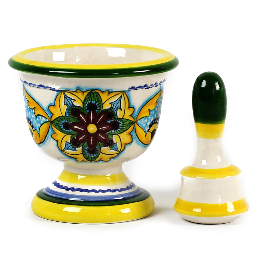 MAJOLICA: Medieval Mortar and Pestle Pharmacy Deruta Vario Design
