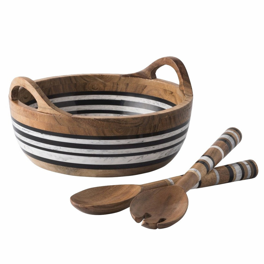 JULISKA: Stonewood Stripe Salad Server Set