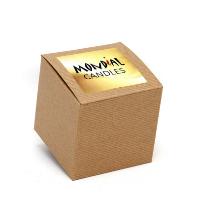 MONDIAL CANDLES: Tegan Matte Gold Design Ceramic Container Candle