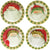 VIETRI: Old St Nick Asst Dinner Plate (Set of 4)