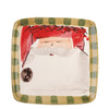 VIETRI: Old St Nick Square Salad Plate Red