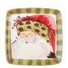 VIETRI: Old St Nick Square Salad Plate Animal