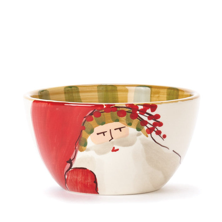 VIETRI: Old St Nick Cereal Bowl Animal Hat