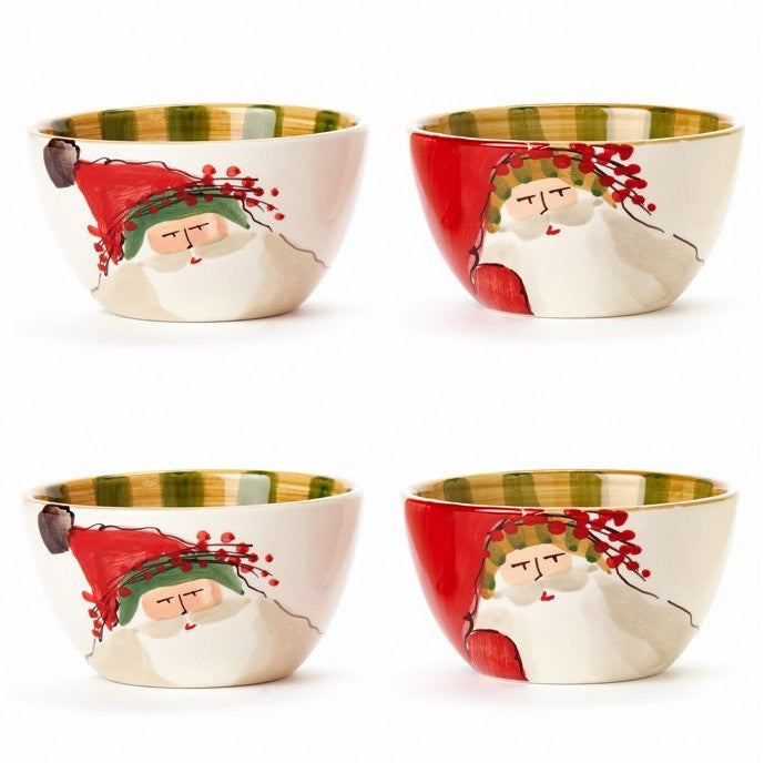 VIETRI: Old St Nick Assorted Cereal Bowls (Set of 4)