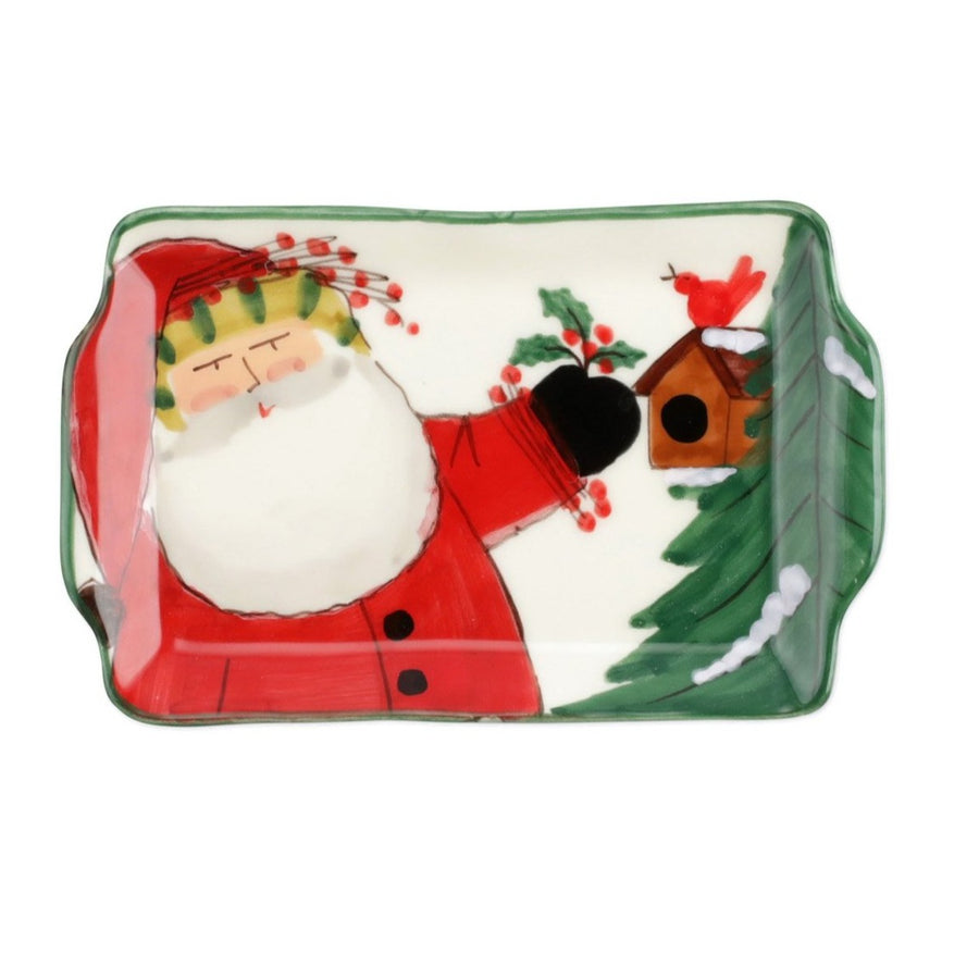 VIETRI: OLD ST. NICK 2020 LIMITED EDITION SMALL RECTANGULAR PLATE
