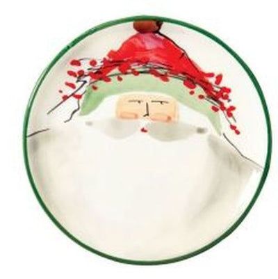 VIETRI: Old St Nick Canape Plate (Shipped assorted any of the four depicted)
