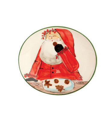 VIETRI: Old St Nick Cookie Plate (In Gift Box)