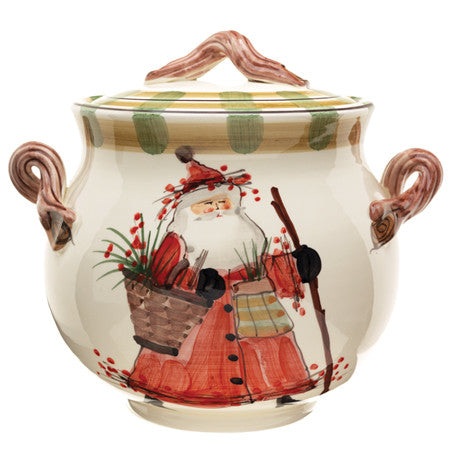 VIETRI: Old St Nick Biscotti Jar