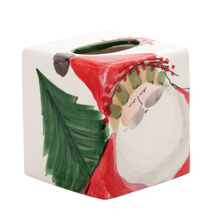 VIETRI: Old St Nick Tissue Box