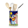 LA MUSA: Combo 2 Pcs Set Utensil Holder and Spoon Rest Sicilian Oranges Harvest