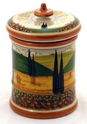 PAESAGGIO TOSCANA: Large Canister Zucchero (Sugar)