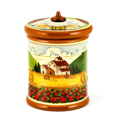 PAESAGGIO TOSCANA: Canister Caffe (Coffee) Large