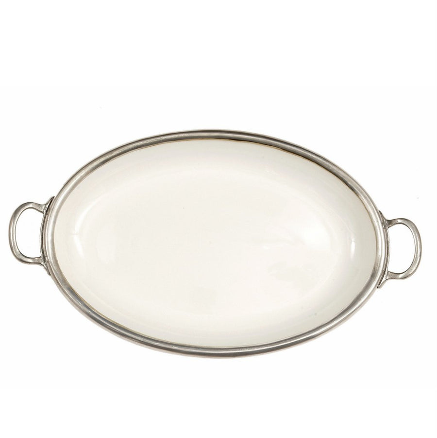 ARTE ITALICA: Tuscan Oval Tray with Handles