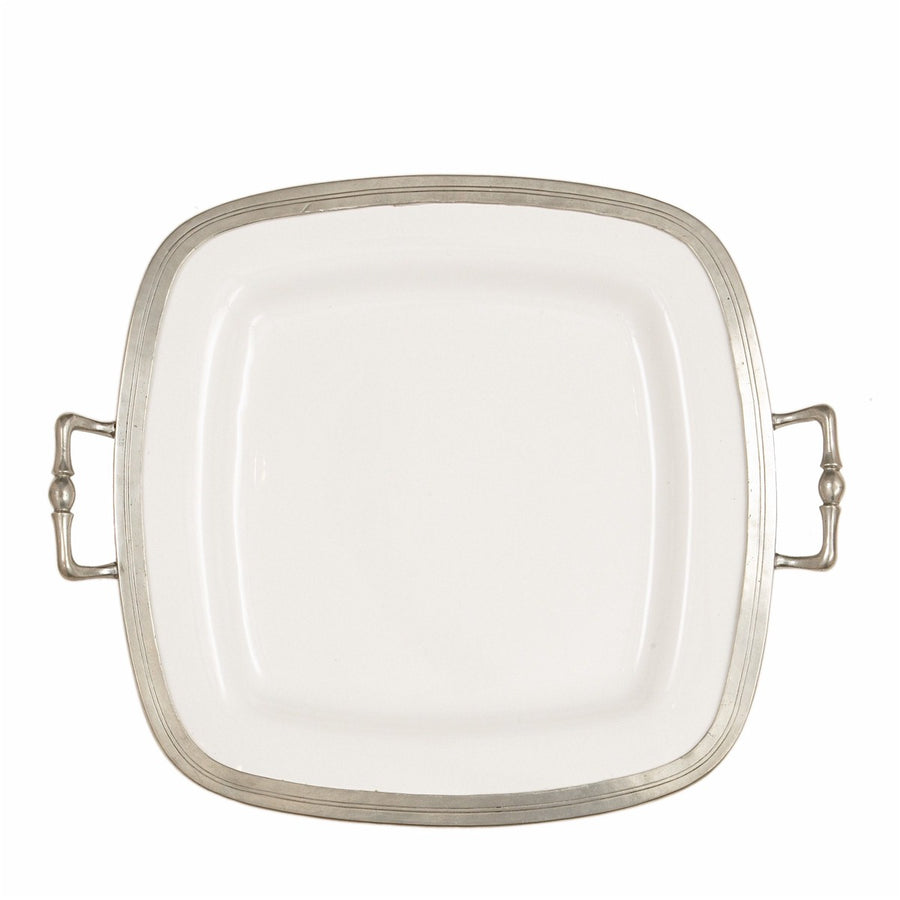 ARTE ITALICA: Tuscan Square Tray with Handles