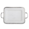 ARTE ITALICA: Tuscan Small Rectangular Tray with Handles