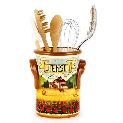PAESAGGIO TOSCANA: Utensil Holder with Handles