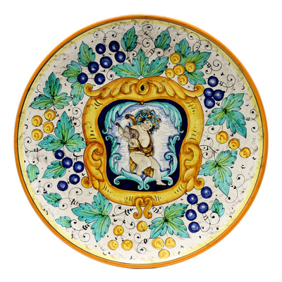 RUSTICA: Round Wall Plate w/Putto (20D.)