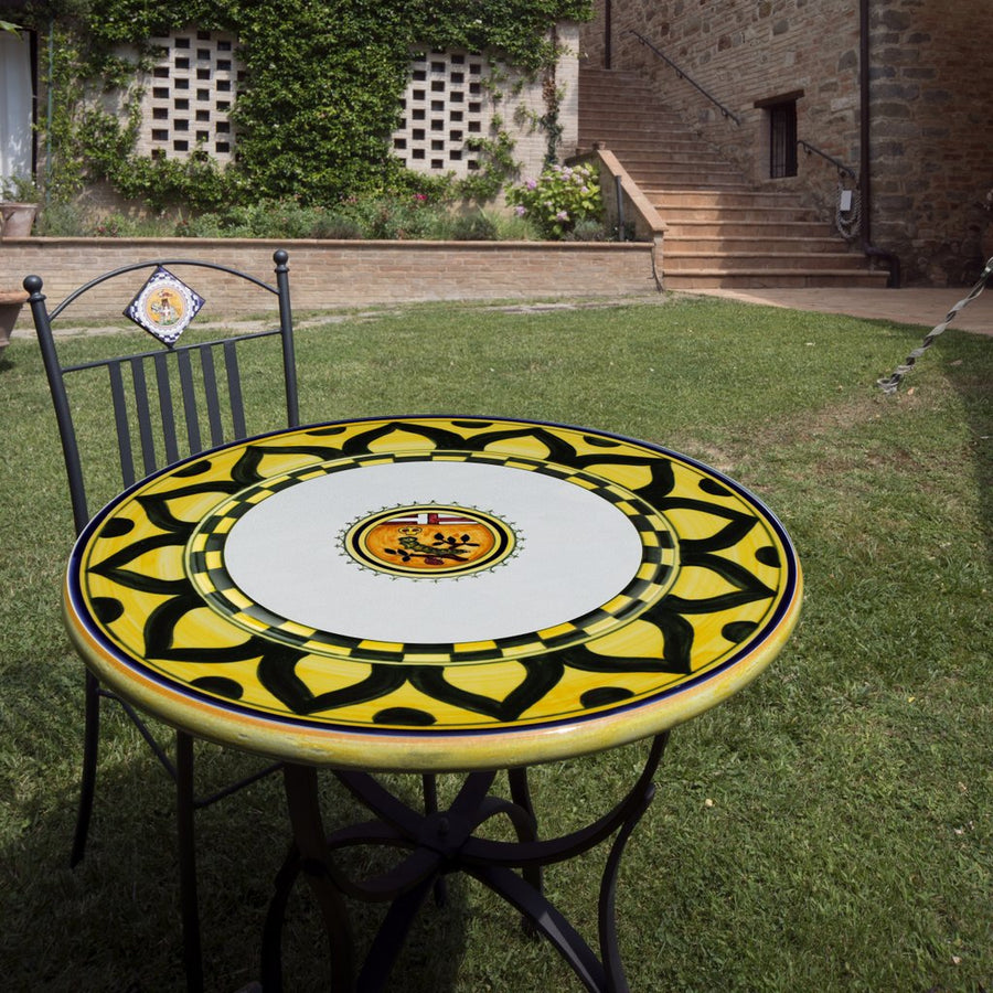 PALIO DI SIENA: Table + Iron Base BRUCO (CATERPILLAR) Design