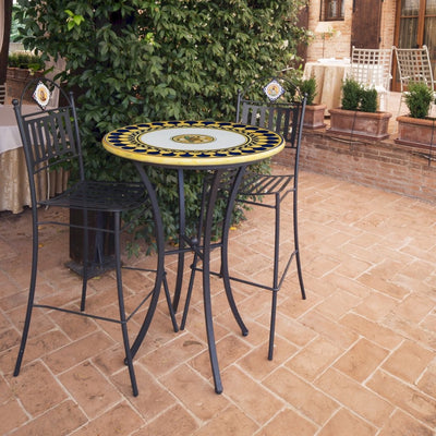PALIO DI SIENA: Table + Iron Base ONDA (Wave Dolphin) Design