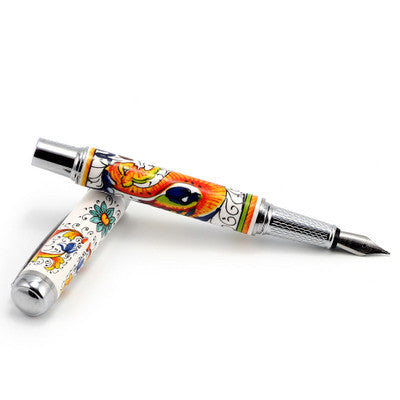 ART PEN: Artistica FOUNTAIN PEN Ceramic Porcelain Raffaellesco Deruta design
