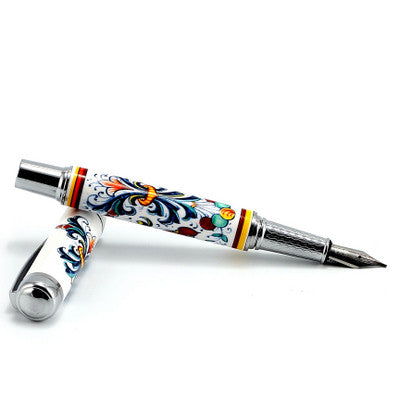 ART PEN: Artistica FOUNTAIN PEN Ceramic Porcelain Ricco Deruta design