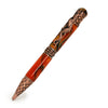 ART-PEN: Handcrafted Luxury Twist Pen - RAFFAELLESCO DRAGON Ant. Copper with Acrylester Vivid Jester acrylic body