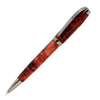 ART-PEN: Handcrafted Luxury Twist Pen - GRADUATE Gun Metal with Red Buckeye Bur body